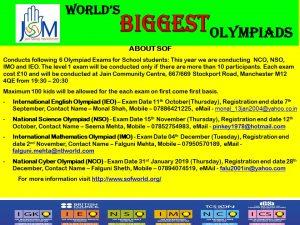 International Mathematics Olympiad (IMO) - Jain Samaj Manchester